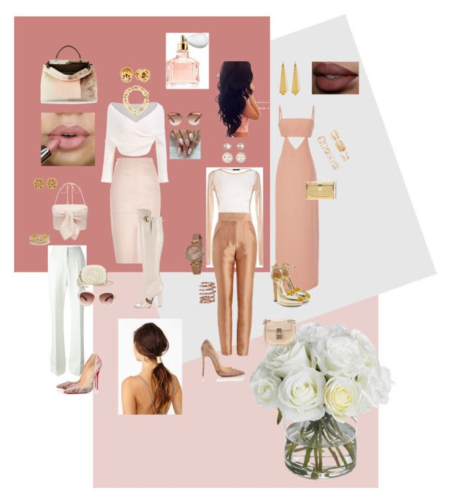 """""""For the love of Blush"""" by chantel-fernandez on Polyvore featuring Diane James, Osman, Edie Parker, Chloé, Pinko, STELLA McCARTNEY, Zimmermann, Christian Louboutin, Eloquii and Gucci"""