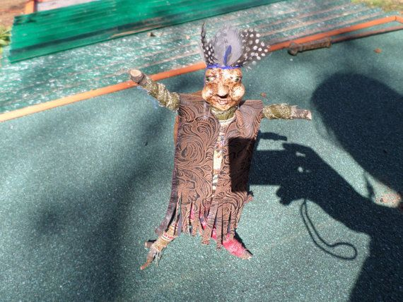 Primitive Ooak Doll by manzanitamountain on Etsy, $40.00