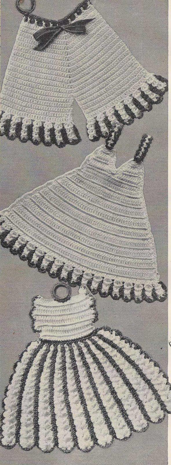 Free Crochet Pot Holder Patterns 5511 Panties Potholder 5512