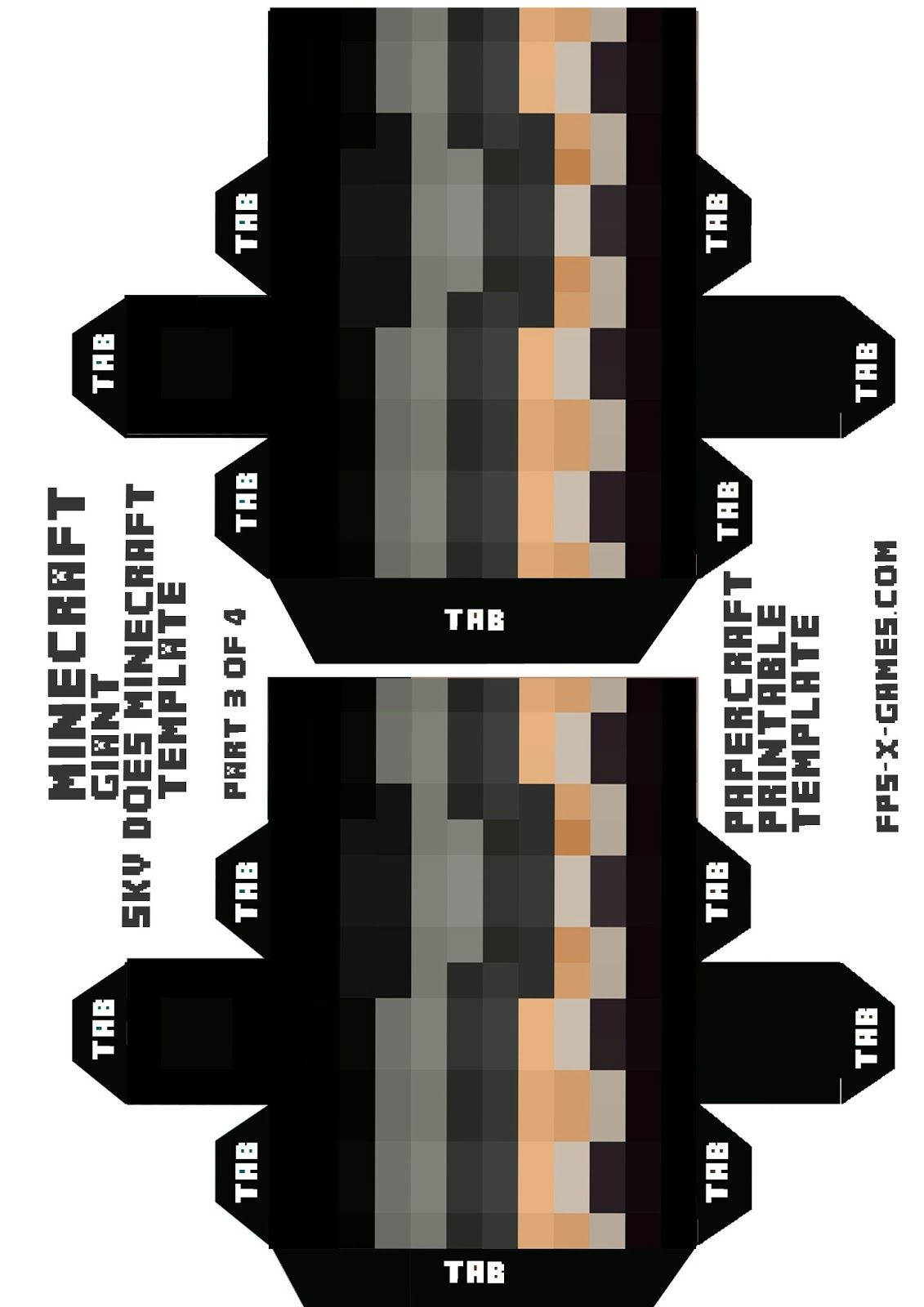 Large sized skydoesminecraft papercraft 3 4g 11311600 pixels weapons pronofoot35fo Gallery