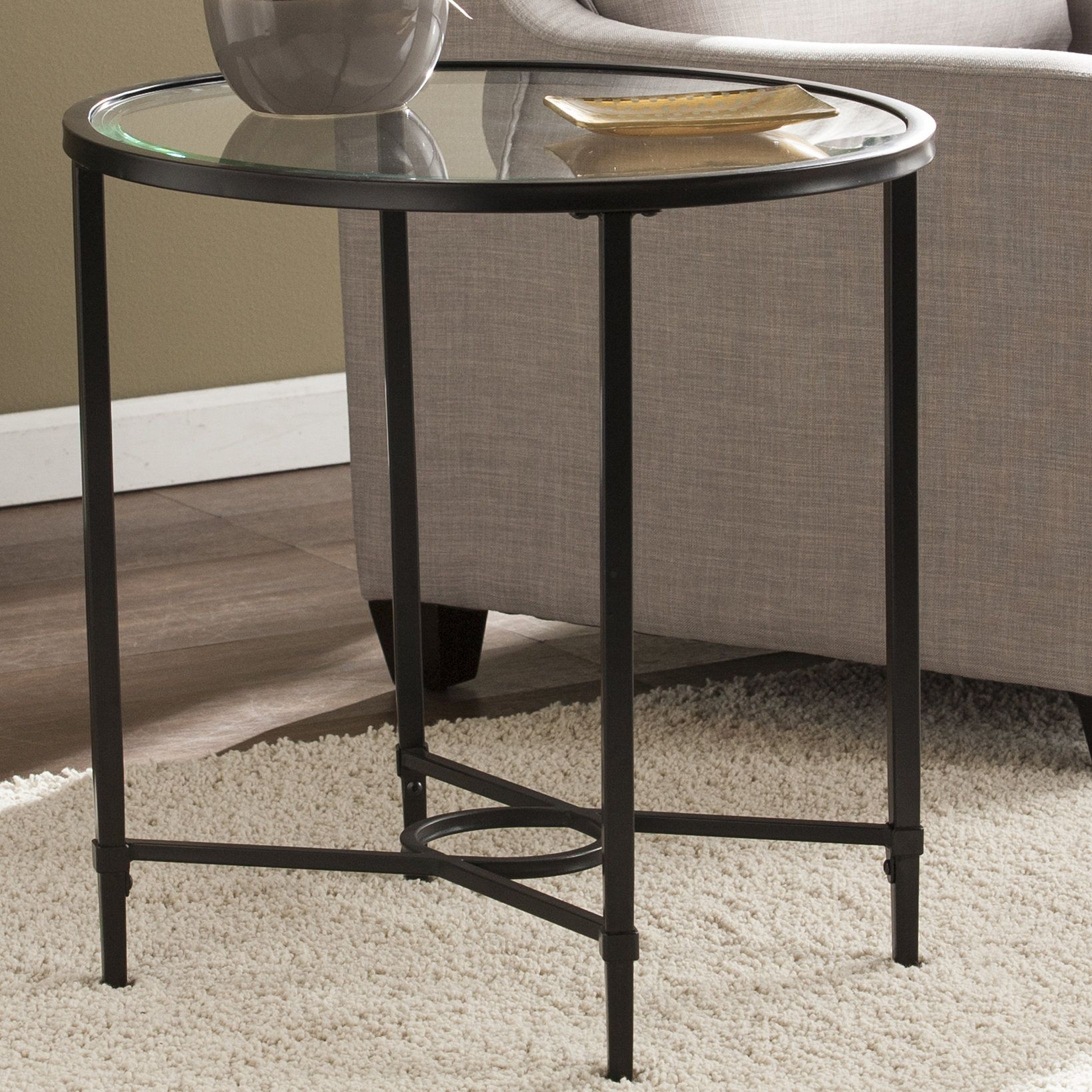 Pagano End Table Furniture End Tables Glass End Tables
