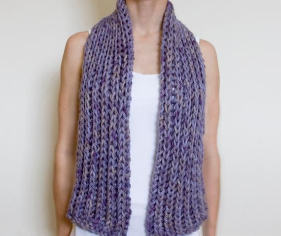 10 Easy Scarf Knitting Patterns For Beginners Chunky Scarves