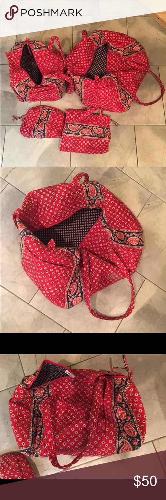 Vera Bradley Retired Pattern Set Large Duffle Small Duffle - Travel bag for bathroom items for bathroom decor ideas
