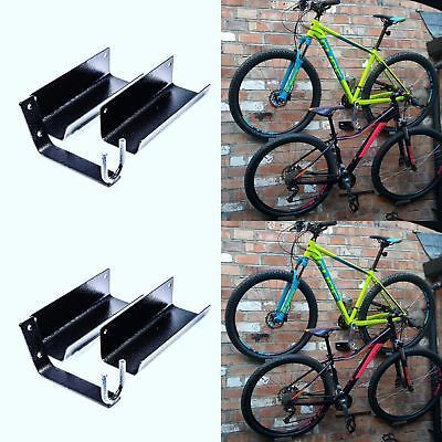 Wall Mounted Bike Cycle Rack Storage Hook Garage Shed Space Saving Bracket & Wall Mounted Bike Cycle Rack Storage Hook Garage Shed Space Saving ...
