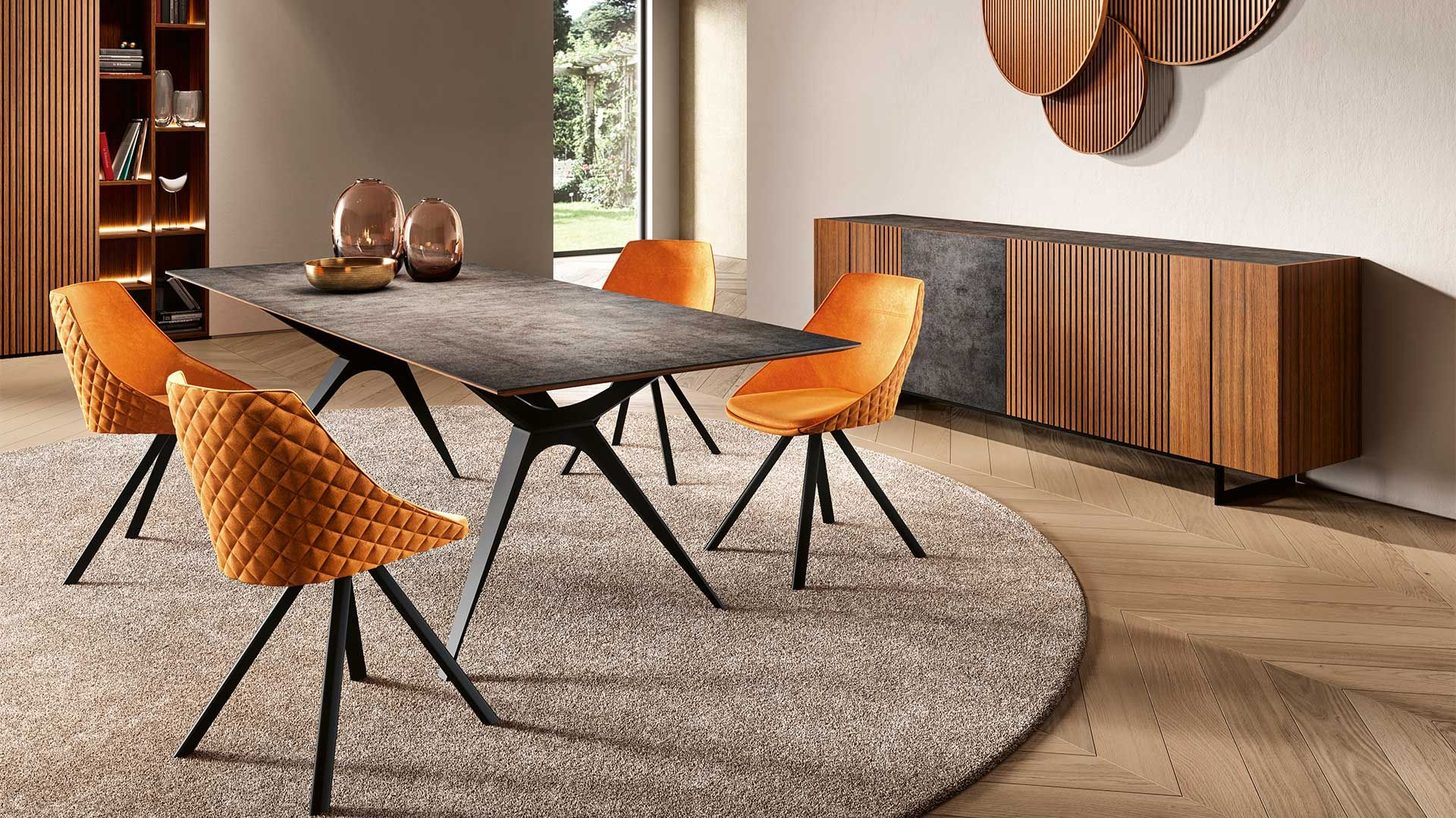 Piana Collection Chene Fume Et Ceramique Mobilier De France Table Ceramique Extensible Mobilier De Salon