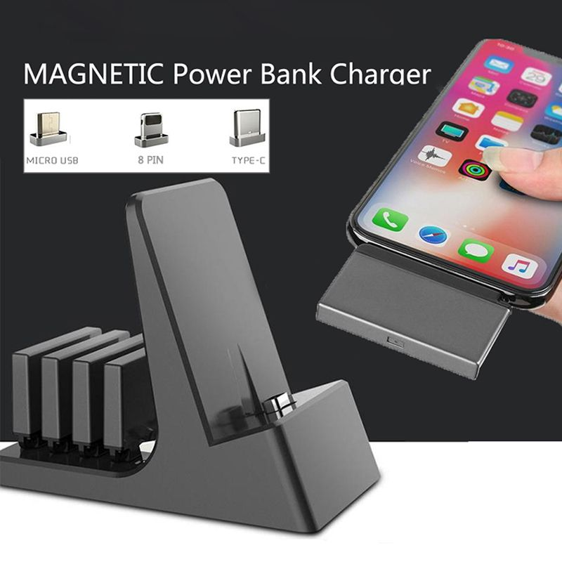 Rechargeable Magnetic Usb Head 3200mah Power Bank Mobile Phone Charging Dock Latest Mobile Phones Phone Charging Phone