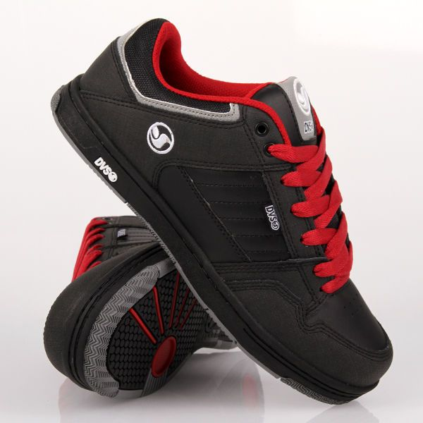 DVS Ignition Black Red Leather