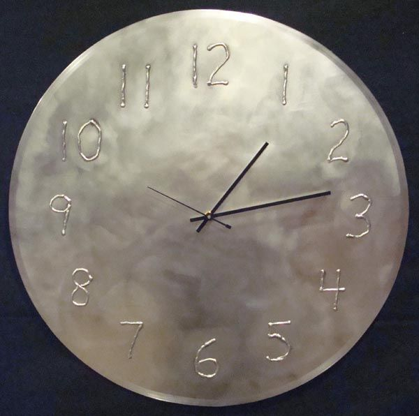 Stainless Steel Wall Clock With Welded Numbers Vintage Wall Clock Vintage Clock Wall Clock