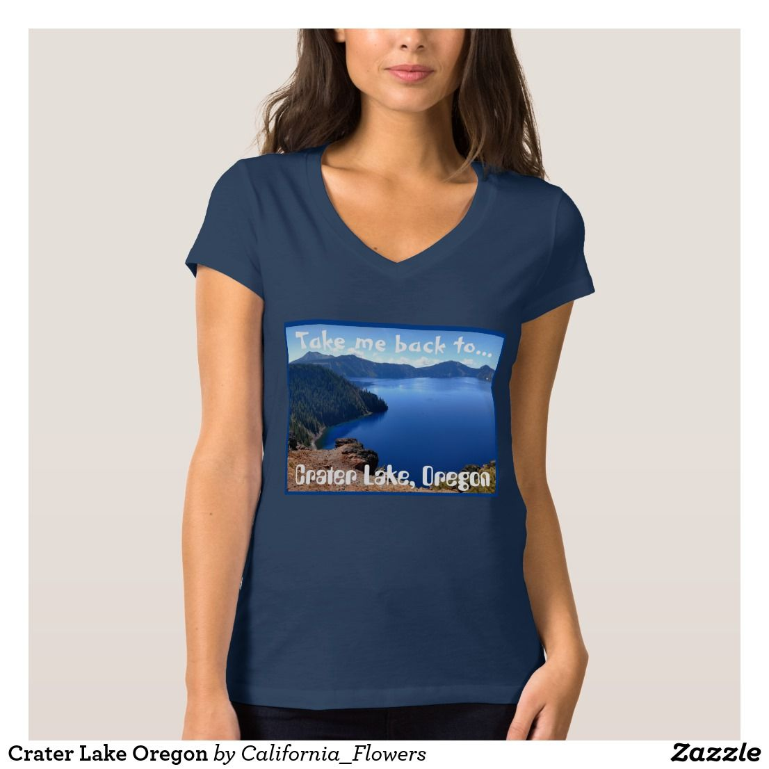 Crater Lake Oregon T-shirt, Women's, Size: Adult S, Blue #craterlakeoregon