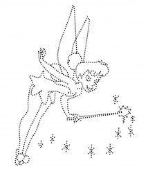 Tinkerbell prickelbilder vorlage pinterest prickeln fadengrafik und pailletten - Fadenkunst vorlagen ...