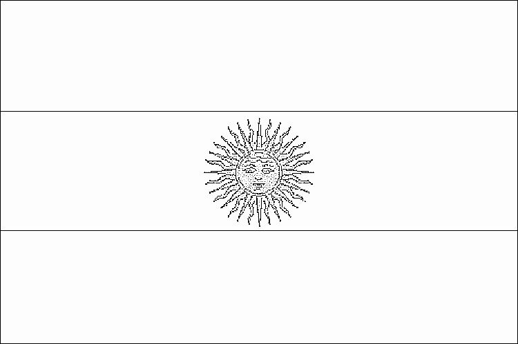 Flag Of Argentina Coloring Page In 2020 Flag Coloring Pages