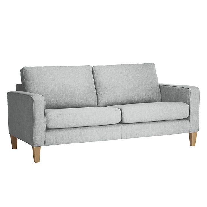 Buy John Lewis The Basics Jackson Large Sofa, Basics Dash Silver ...