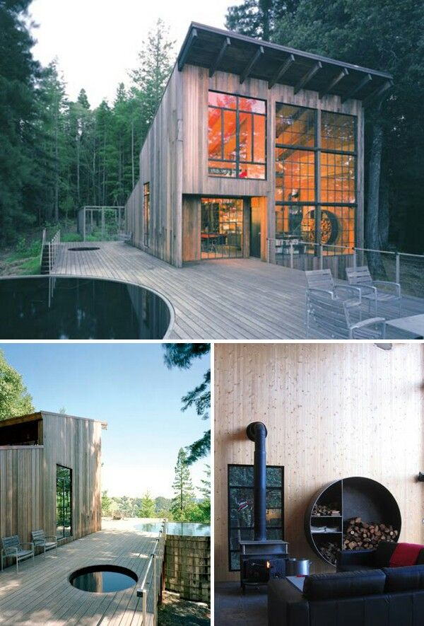Scandinavian Small Two Story Modern Cabin Architecture House In The Woods