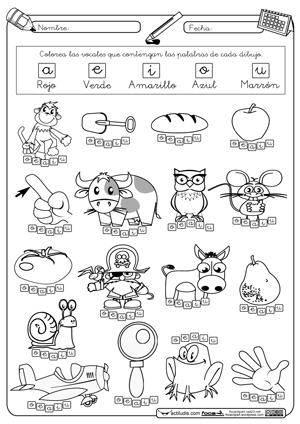 Fichas para trabajar las vocales.   ficherio   Pinterest   Los ...