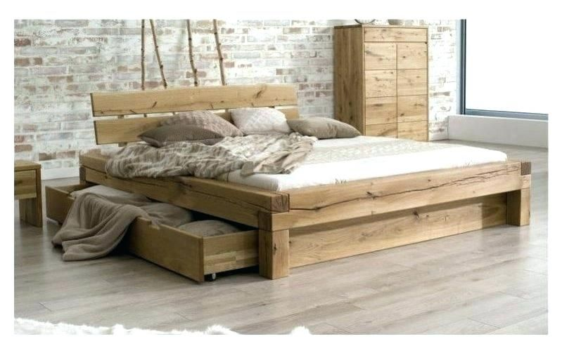 lit en bois. Black Bedroom Furniture Sets. Home Design Ideas