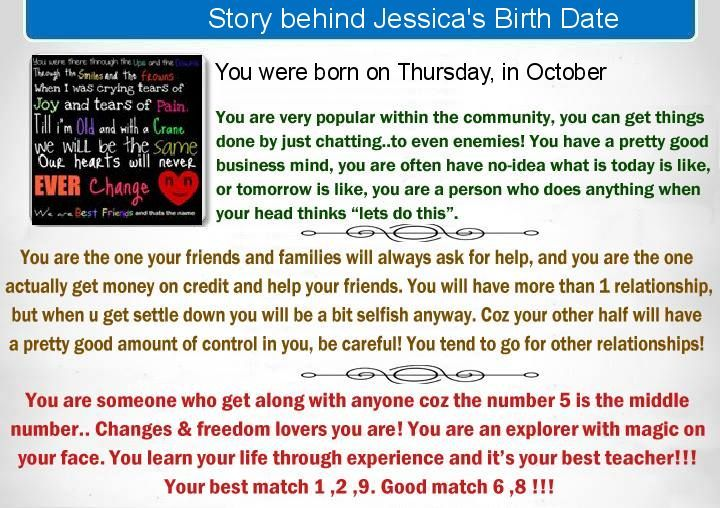 Check my results of Find Story behind your Birth Date Facebook Fun App by  clicking Visit