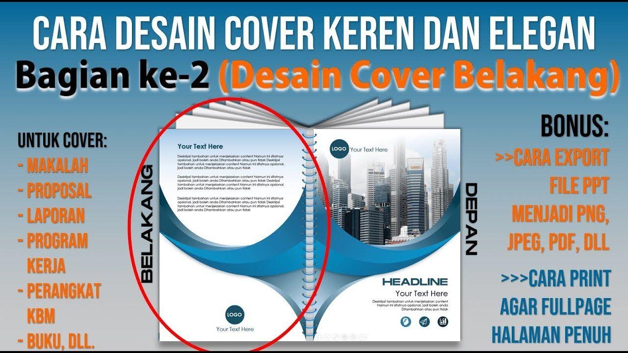 Contoh Cara Membuat Cover Keren Dengan Powerpoint Bagian Dua Cover Bel Kecantikan Proposal