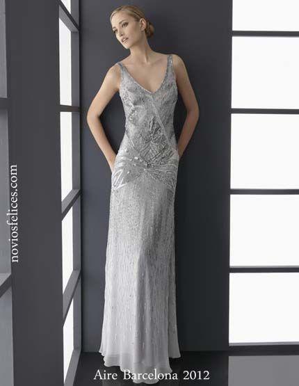 Vestidos de fiesta color gris perla