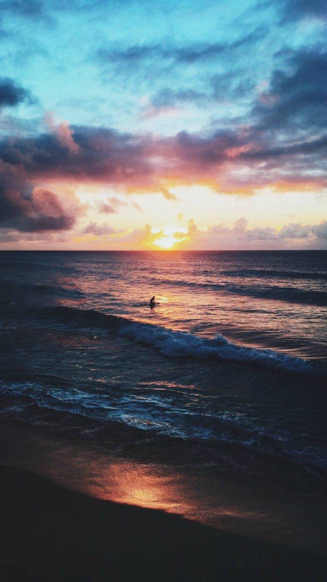 Phone Wallpaper Landscape Ocean Sea Sea Sunset Background Landscape Beautiful Landscapes