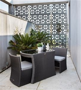 Excalibur Outdoor Living Tunis 3 Piece Compact Dining Package