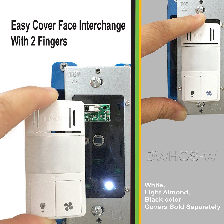 Enerlites Dwhos W Humidity Motion Sensor Switch For Bathroom Fan