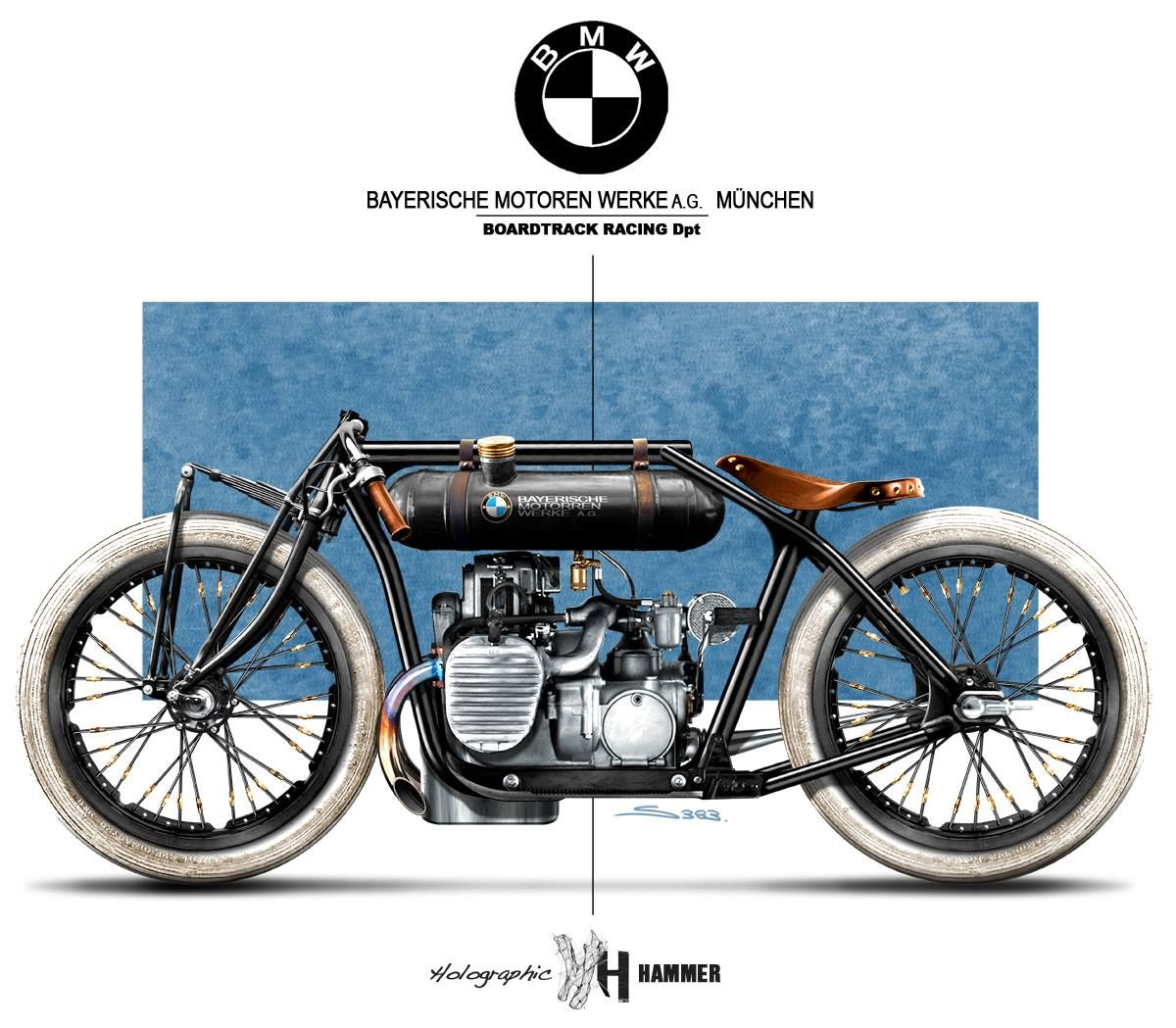 Bmw R32 Board Track By Holographic Hammer With Images Bmw