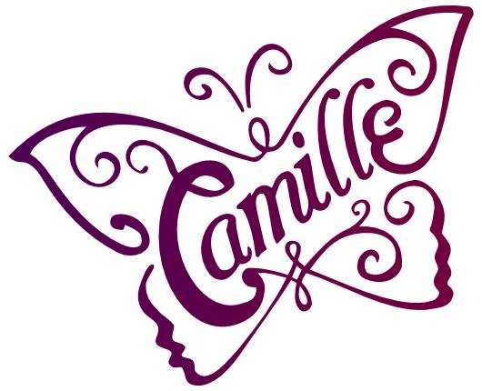 Papillon camille camille camille name art et vector art - Dessin de prenom ...