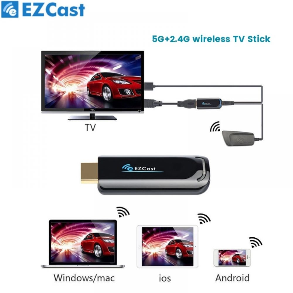 EZCast wireless TV STICK 5G Display Dongle Receiver 1080P HDMI Anycast EZ Cast WIFI Dongle For Android Smart Devices #smartdevice