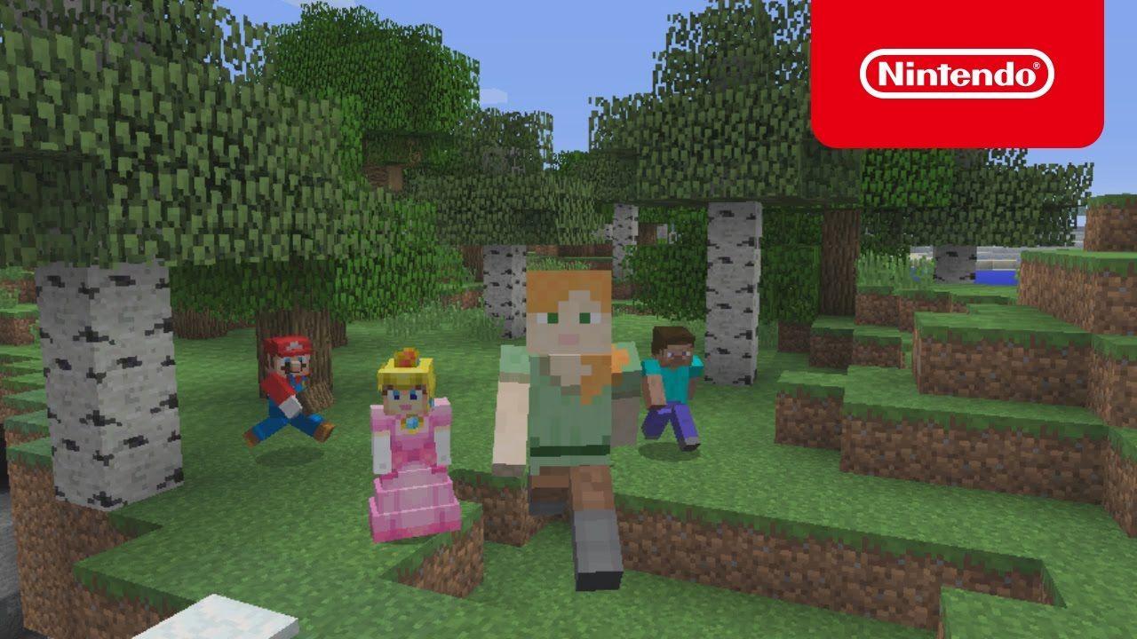 New JP Nintendo Switch Commercial Featuring Minecraft Mario Kart And - Minecraft bit spiele