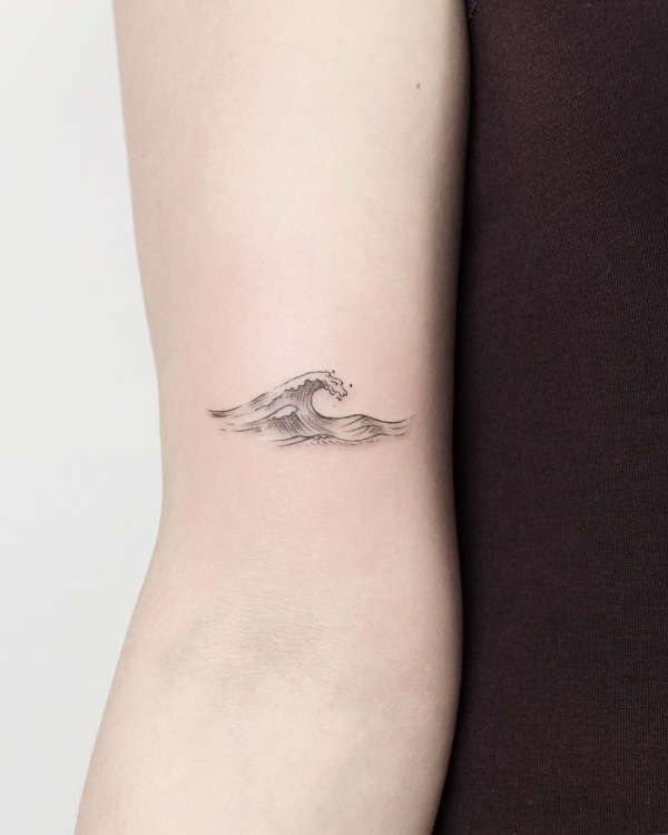 Photo of Wave tattoo – meaning, story, 40 photos, #photos #history #sense #tinyphoenixtat…