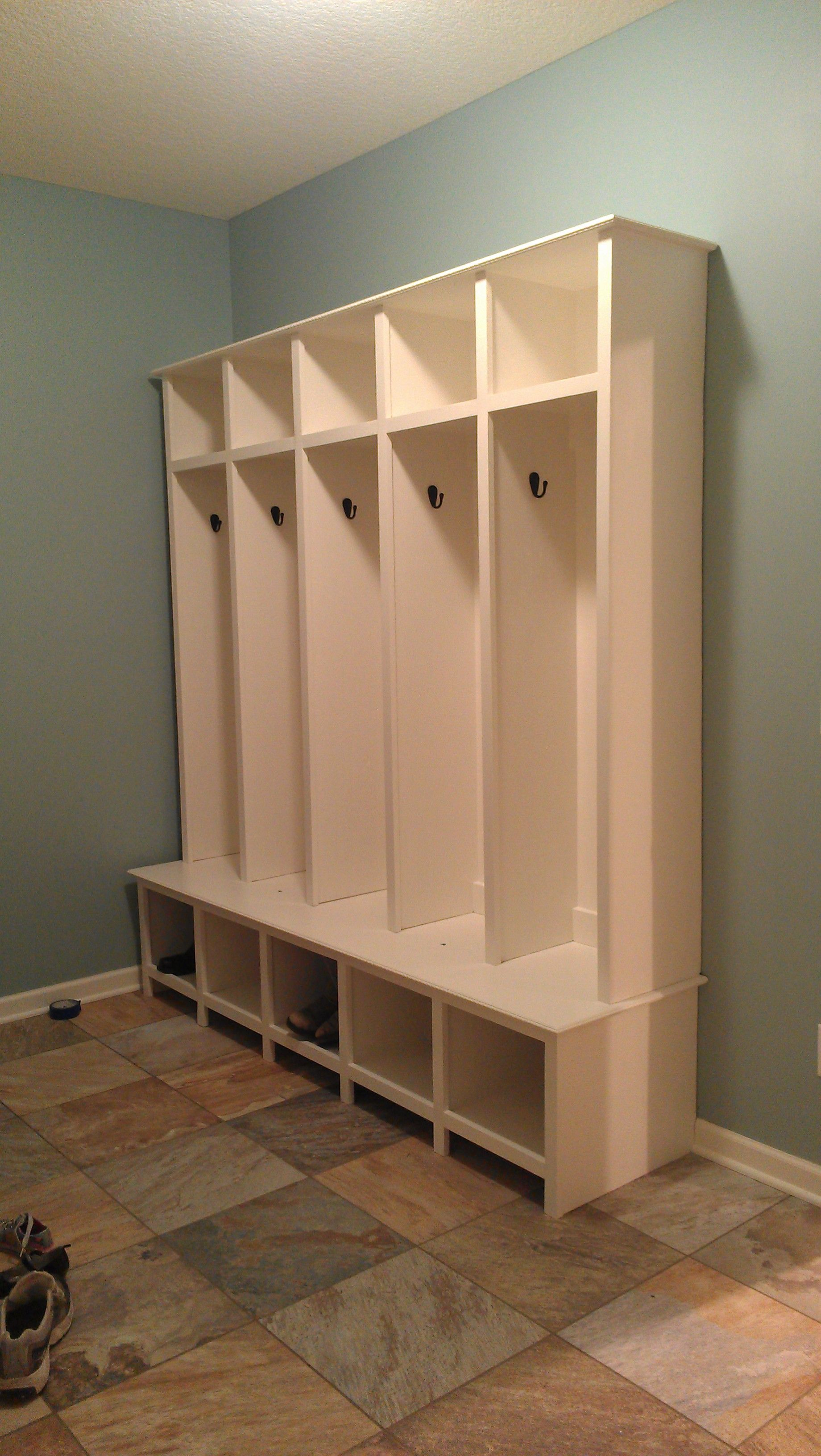 Mudroom Lockers Do It Yourself Home Projects From Ana White Mudroom Lockers Mudroom Furniture Mud Room Storage