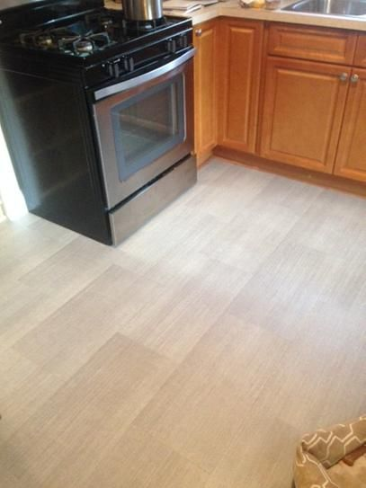 Trafficmaster Allure 12 In X 24 Cream Concrete Resilient Vinyl Tile Flooring Sq Ft Case 40111 At The Home Depot Mobile