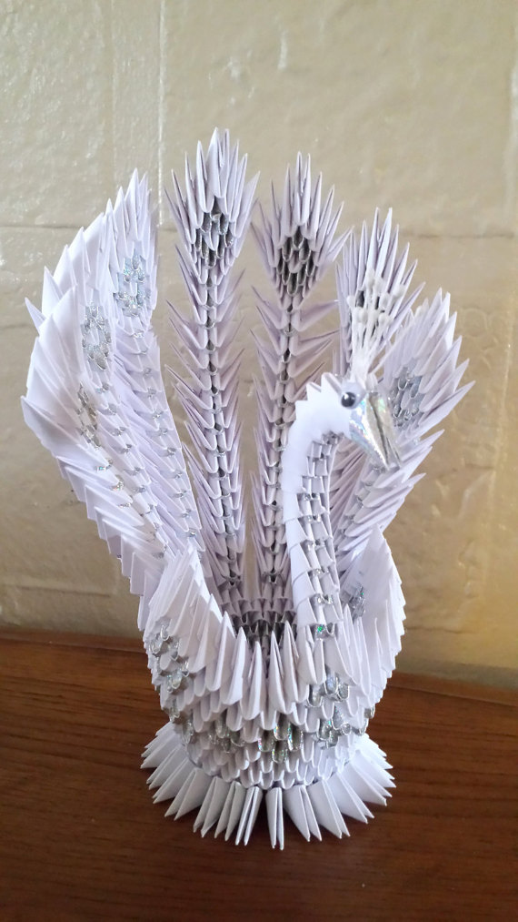 3d origami peacock 2 origami origami 3d origami und. Black Bedroom Furniture Sets. Home Design Ideas