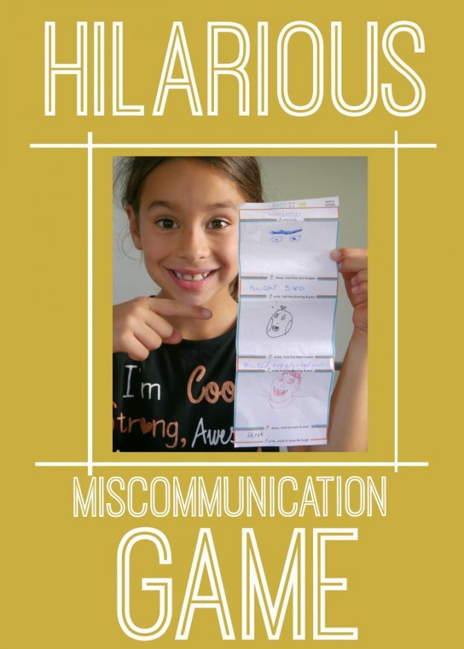 Pass It On A Hilarious Family Drawing Game Activities For Kids