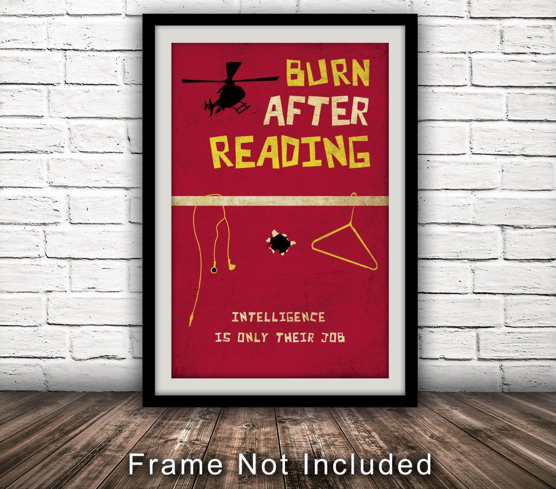 Burn after readinginspired movie poster fan art