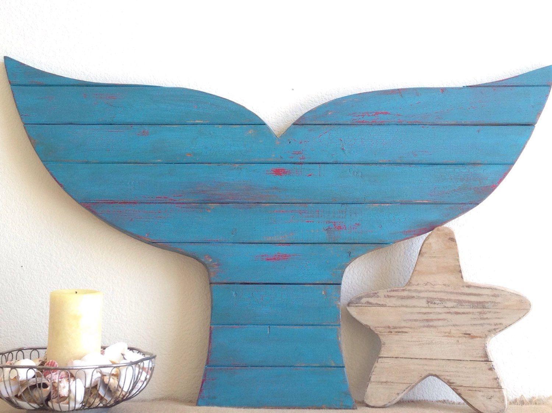 Moving Sale Pallet Whale Tail Surf Decor Whale Decor