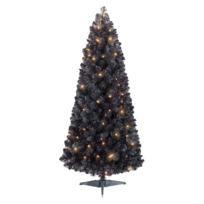 4 5 Pre Lit Black Christmas Tree Clear Lights For The Home