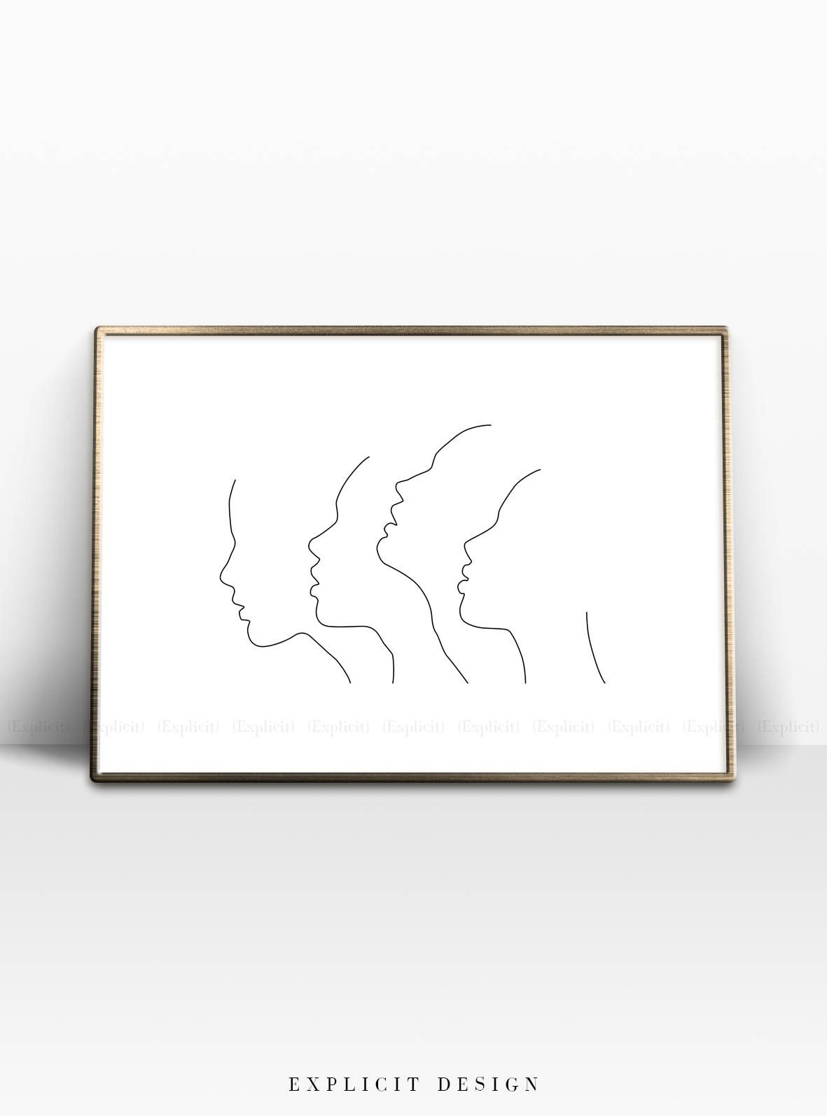 Line drawing drawing art drawing ideas outline art abstract faces printable