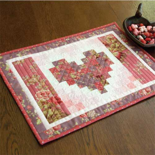 Two Hearts Valentine Free Placemats Pattern Designed And Machine