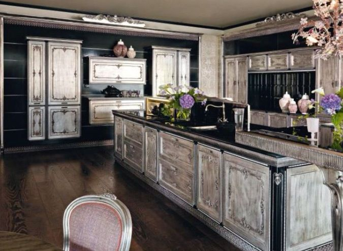 My favorite Ancient looking wood cabinets Black fits the whole