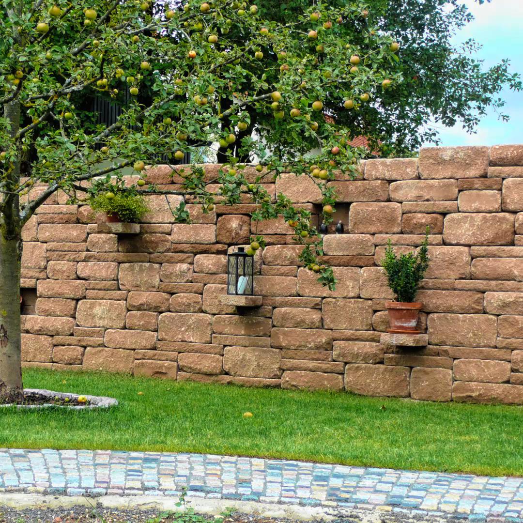 20 Mauern  und Stützelemente Ideen   mauer, steinmauer, gartenmauern