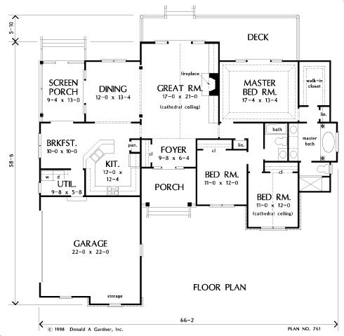 House Plan 5083 Appalacian Trail Nelson Design Group Next house - plan de maison campagne