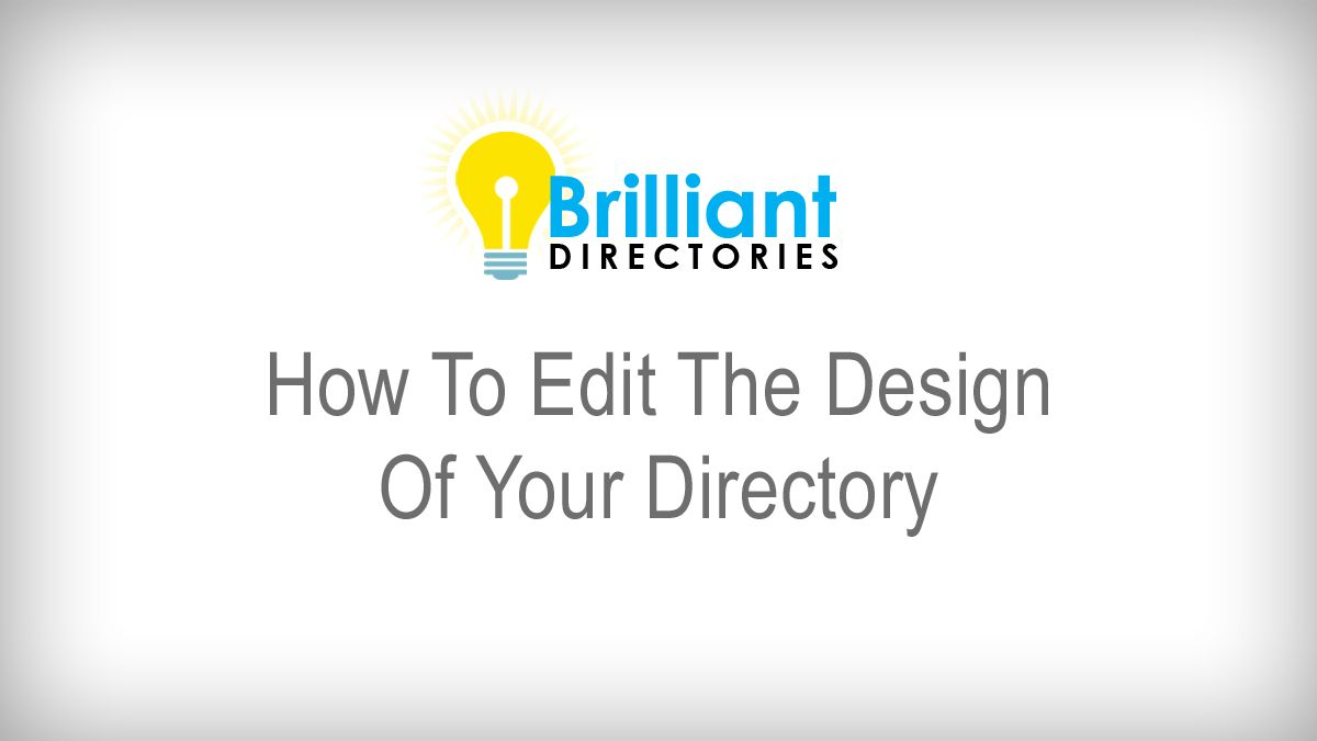 In this video, Brilliant Directories shows you how to change the