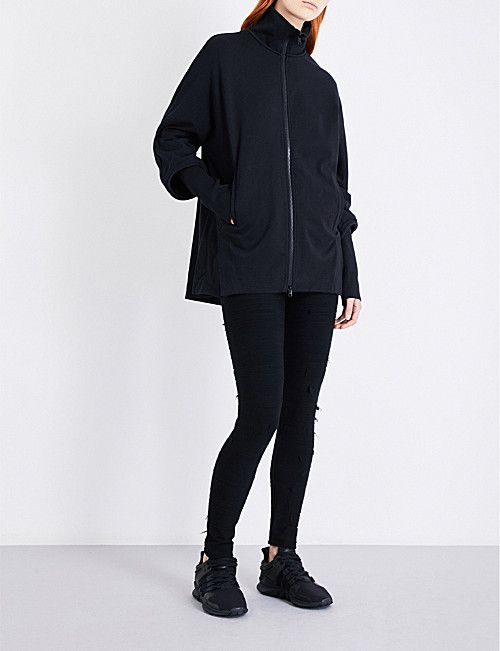 bba7e968a383 Y3 Funnel-neck cotton-jersey jacket