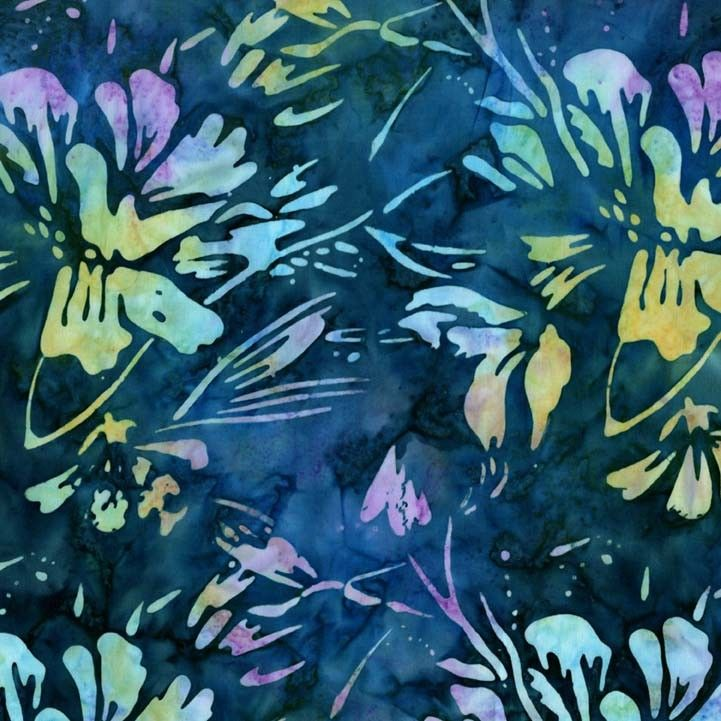 BT6371 julia batiks rainforest flowers tropical mermaid lagoon