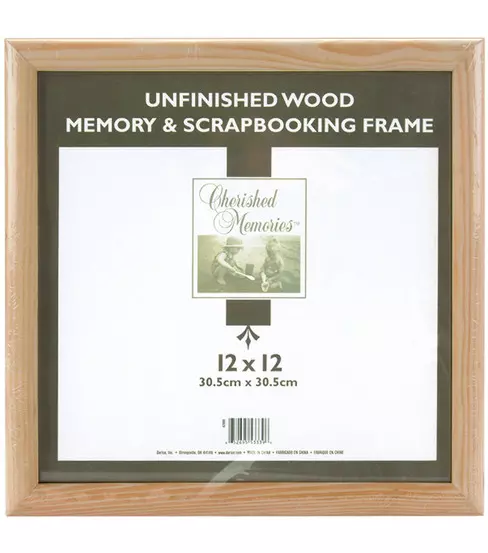 Wooden Memory Frame 12x12 Unfinished In 2020 Memory Frame Frame Photo Frame Wall