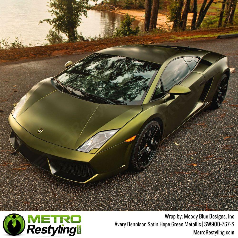 Avery Dennison Satin Metallic Hope Green Wrap Metro Restyling In 2020 Vinyl Wrap Car Car Wrap Vinyl For Cars