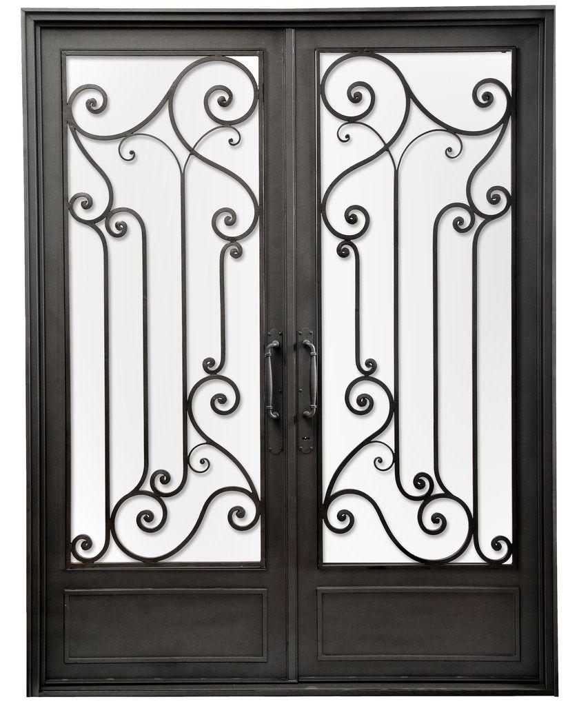 Puerta doble hoja de hierro forjado del hierro design for Puertas de hierro forjado