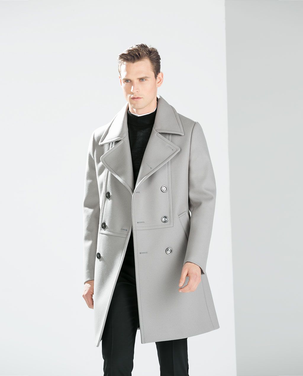 2c833aa5 ZARA - MAN - GREY DOUBLE-BREASTED COAT | Ways to dress up in 2019 ...