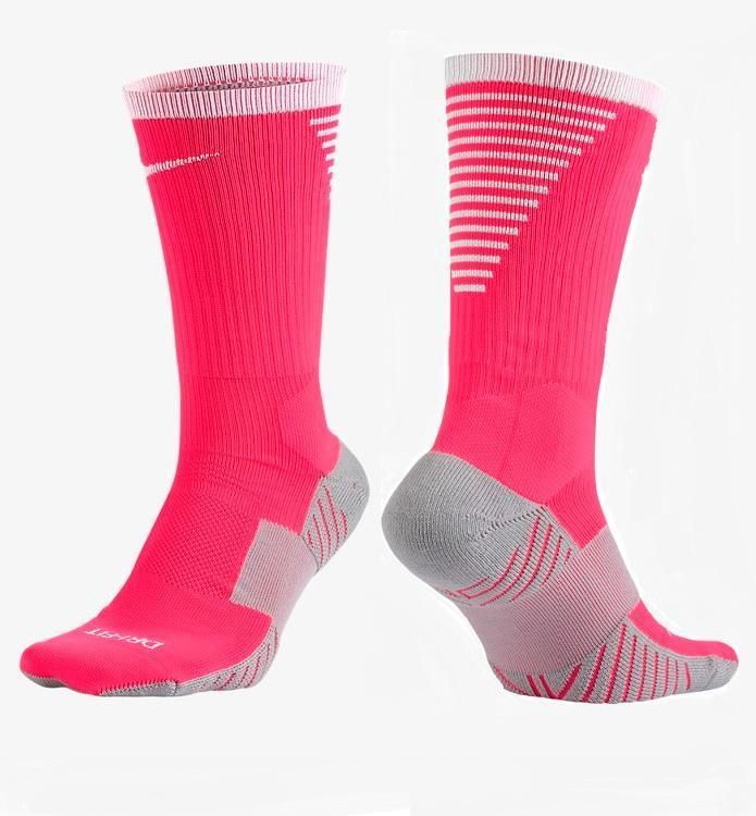 c7330b262a6d Nike Womens 6-10 Mens 6-8 Dry Squad Crew Soccer Socks Pink Gray White  SX5345-617  Nike  Athletic